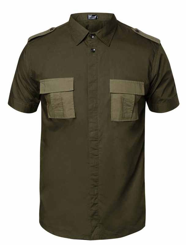 Update your style with this Utility Contrast Pocket Short Sleeve Shirt by ZALORA. Green t-shirt with contrast pocket, short sleeves, front button. Green army shirt, that made from cotton. Casual t-shirt for your casual style, pair it with black jeans and sneakers.   http://www.zocko.com/z/JFyRQ