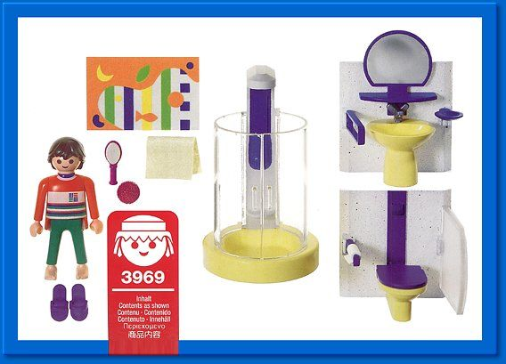 playmobil  set #3969 - modern bathroom | playmobil | pinterest