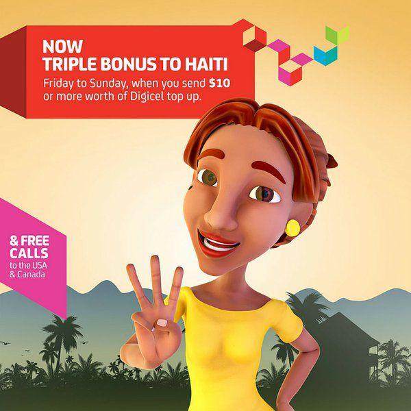 DIGICEL HAITI TRIPLE BUBBLE weekend promotion