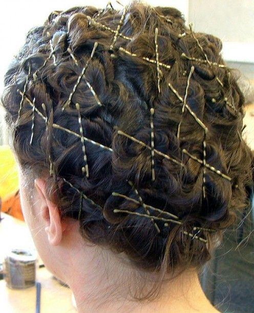 tight pin curls..... the curls will last and last :)