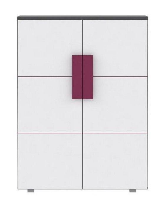 Kommode Lillyfee II mit wundervollen violetten Farbakzenten passend zum Kinder- und Jugendprogramm Lillyfee 1 x Kommode mit 2 Türen und 2 Einlegeböden Metallscharniere... #kinder #jugendzimmer #kommode