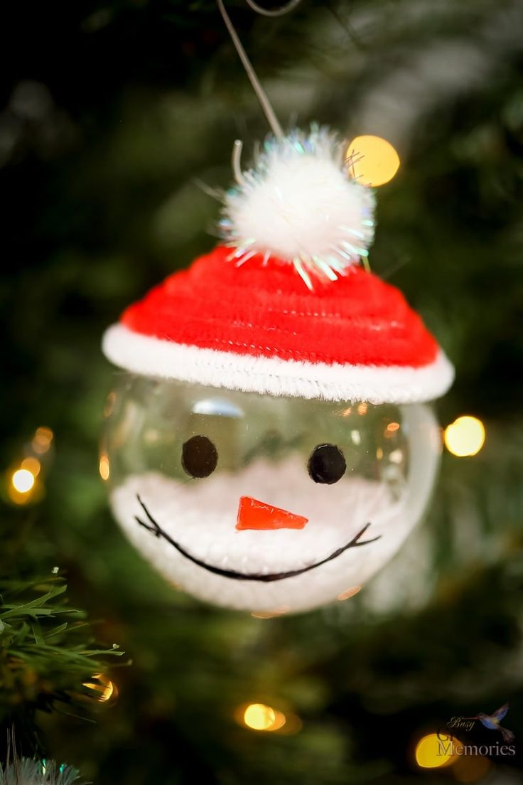Easy Snowman Ornaments 23 best DIY Christmas