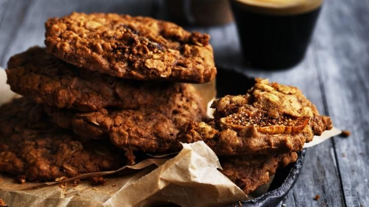 Dan Lepard's oat fig cookies - try them sandwiched around ice-cream.