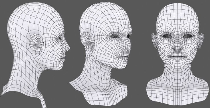 Generic female head topology, some face details missing. Good tutorial at the source. (artist: Frederic Scarramazza)