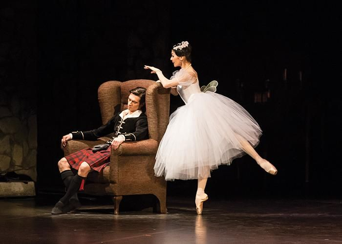 Hungarian National Ballet - Aliya Tanykpayeva and Dmitry Timofeev in La Sylphide. Photo: Emma Kauldhar