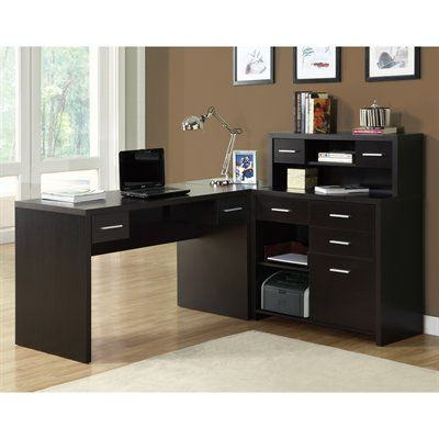 Monarch Specialties I 7 L-Shaped Home Office Desk
