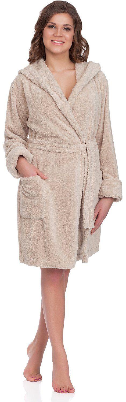 Merry Style Femmes Peignoir de Bain avec Capuche Agnes: Amazon.fr: Vêtements et accessoires