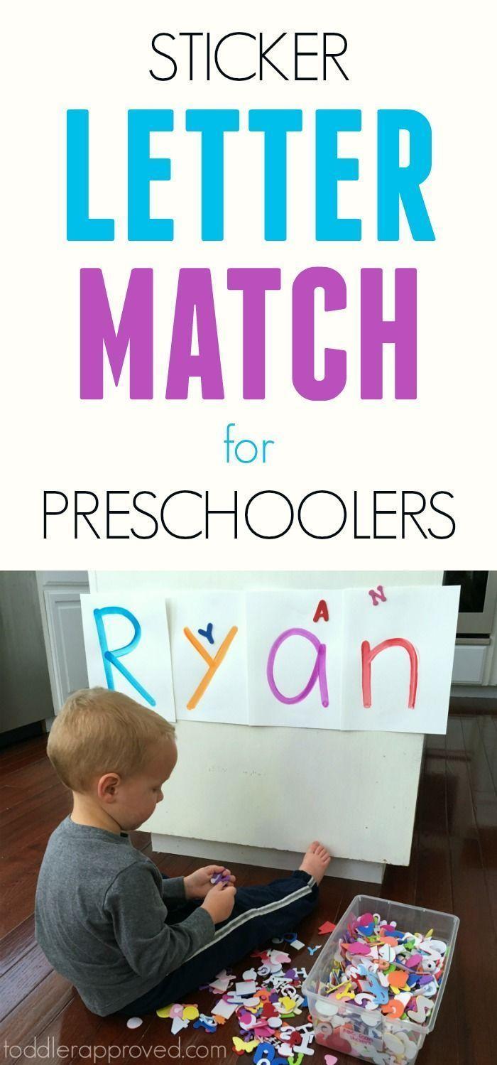 Sticker Letter Match for Preschoolers
