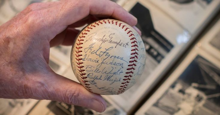 Opinion | Baseballs of 1948  ||  My father was a batboy that year with the White Sox. Putting his collection of signed balls up for sale has brought back memories. https://www.nytimes.com/2017/10/27/opinion/baseball-collection-memorabilia.html?emc=rss&partner=rss&utm_campaign=crowdfire&utm_content=crowdfire&utm_medium=social&utm_source=pinterest