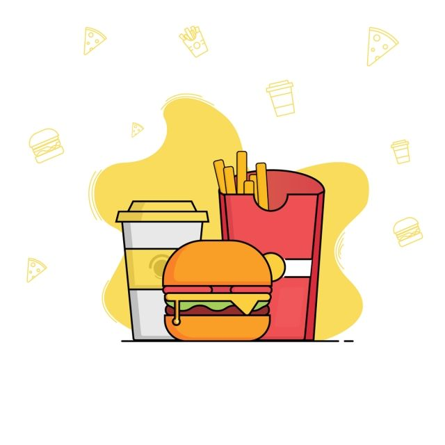 Fast Food Vector And Png Fast Food Food Clipart Food Png