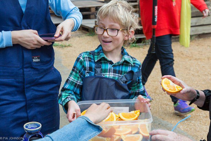Sam managing the Orange Break
