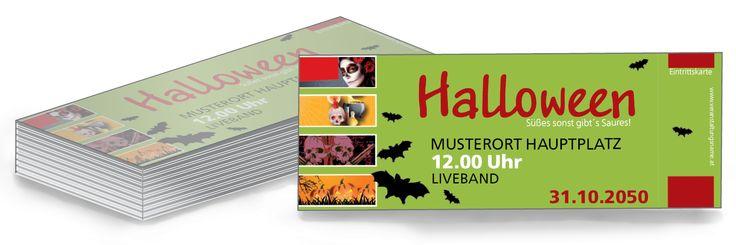 Kartengestaltung ohne versandkosten zusenden lassen #eintrittskarte #onlineprinting #druckerei #halloween