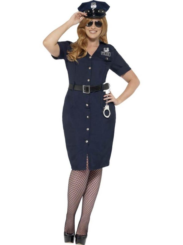 Disfraz de mujer policía NYC talla grande
