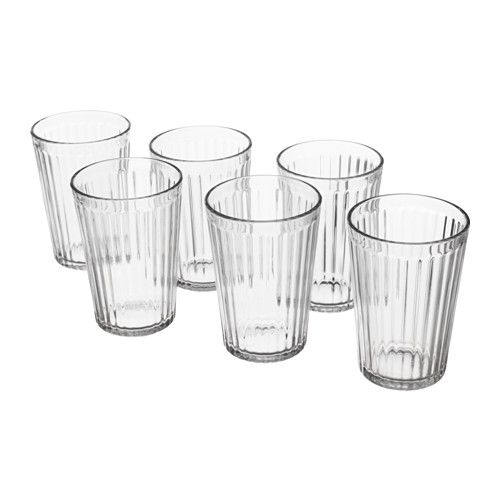 IKEA - VARDAGEN, Glass, Also suitable for hot drinks.Made of tempered glass, which makes the glass durable and extra resistant to impact.