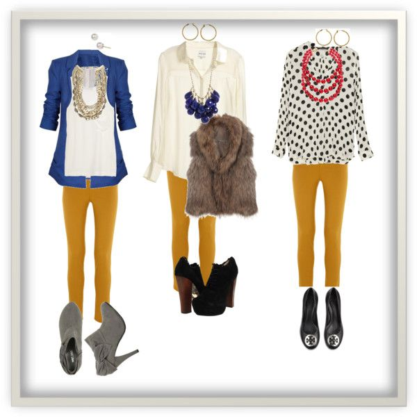 Dark Yellow Pants Outfit