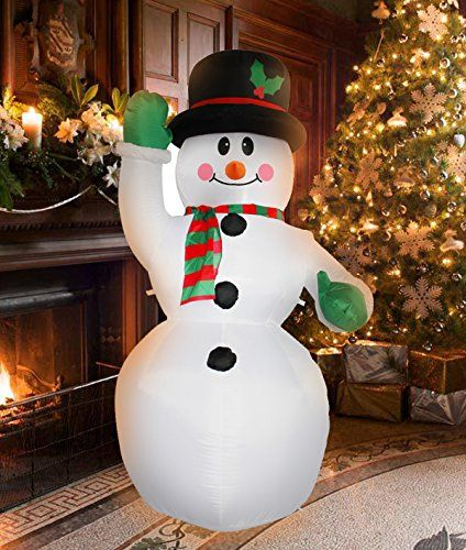 7 Ft Inflatable Christmas Snowman Decorations for Indoors Outdoors