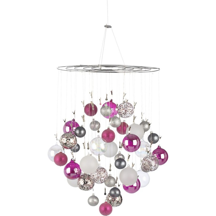 90 best christmas table images on pinterest christmas deco ornament photo chandelier in christmas decorating crate and barrel mozeypictures Image collections