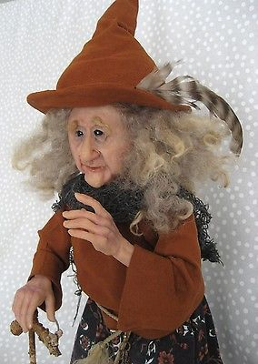 WANDA-The-WOODLAND-WITCH-One-of-a-Kind-Art-Doll-Terry-Richards-Come-C