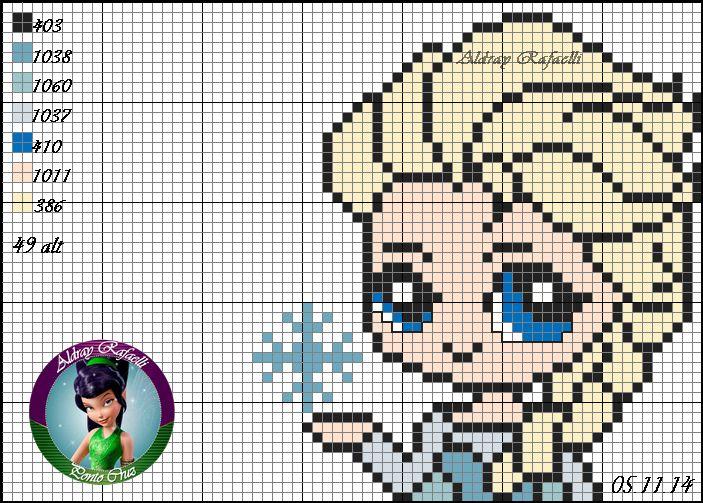 Elsa - Frozen ponto cruz