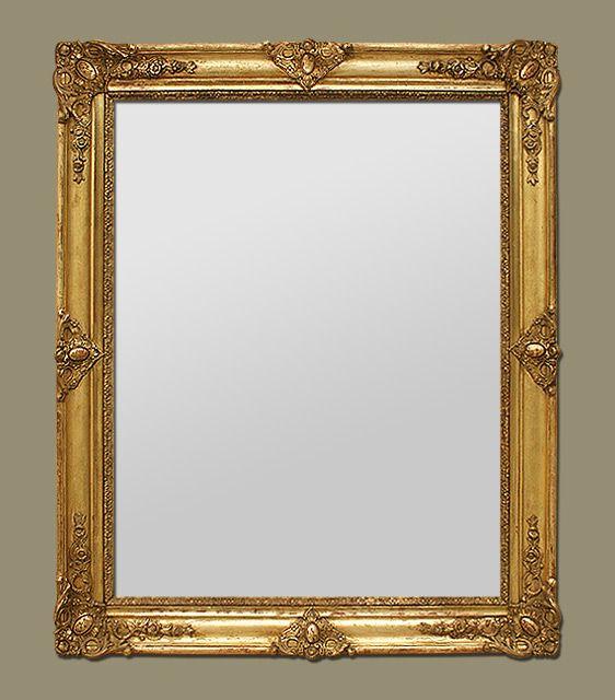 Miroir ancien époque restauration style romantique