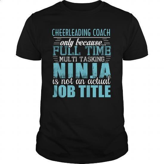 CHEERLEADING COACH Ninja T-shirt #teeshirt #Tshirt. ORDER HERE => https://www.sunfrog.com/LifeStyle/CHEERLEADING-COACH-Ninja-T-shirt-Black-Guys.html?60505