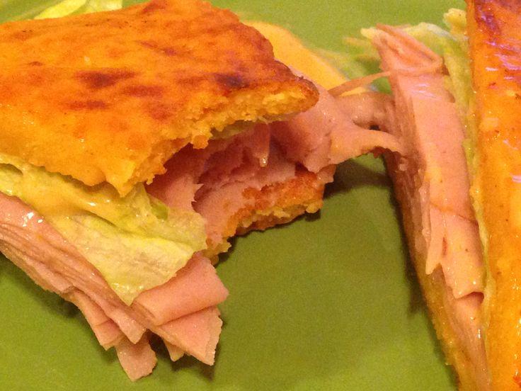 """The Sandwich"" - flourless gluten-free protein powder bread, 20 grams protein, 262 calories"