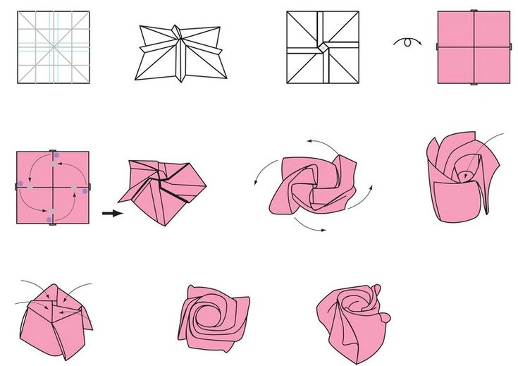 92 best images about origami on pinterest origami - Origami rose facile a faire ...