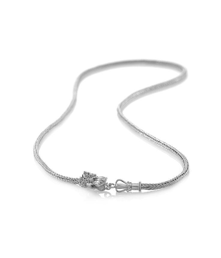 Tulola  Tulang Naga Medium Necklace 55 cm 4mm Silver http://www.shoptulola.com/men/necklaces/tulang-naga-necklace-4mm-silver.html  #SophieParis