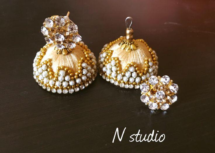 #silkthreadjewellery #earring  #silkthreadjewelleryqatar