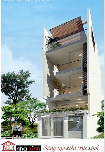 Nét thẩm mỹ trong thiết kế hình khối kiến trúc nhà phố đẹp