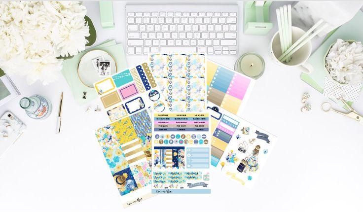 Escapada //kit de pegatinas decorativas para agenda, diario o scrapbooking // Planner stickers. de CreaConAlma en Etsy