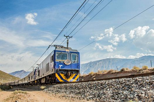 The Blue Train: Steaming through 1600km of countryside from Cape Town to Pretoria. Photo by bluetrain.co.za