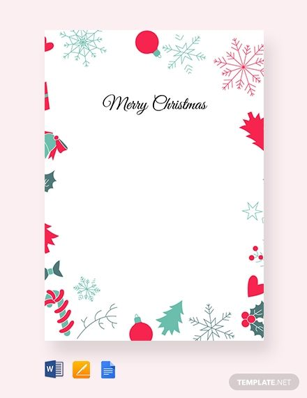 Free Christmas Border Letter Holiday Pinterest Christmas