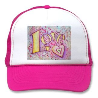 Love Word Art Hat or Caps Painting