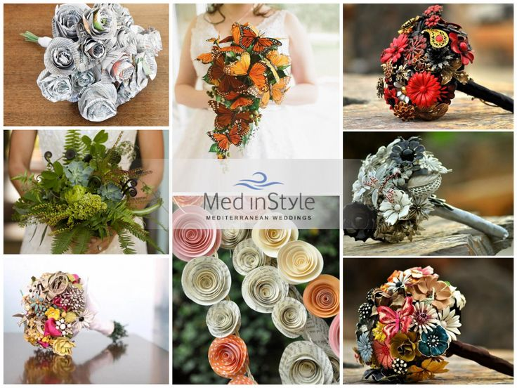 Flower decorations will be partially or entirely lifted away: a bouquet made of newspaper will hardly go unnoticed! The eco- friendly details will make your Italian wedding unique and unforgettable …