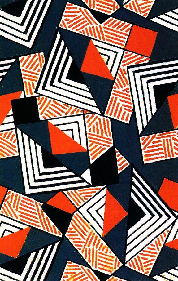 Design for textile, France 1924