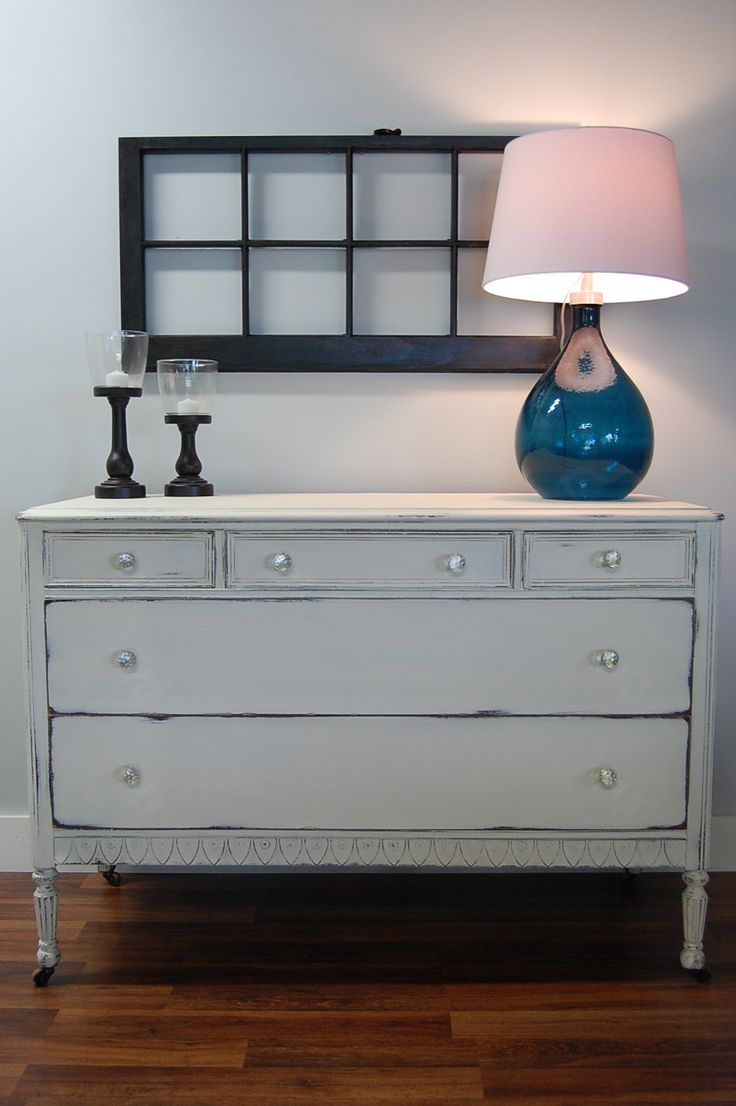 Antique Dresser Painted In Old White By Annie Sloan With A Nursery DresserDining Room