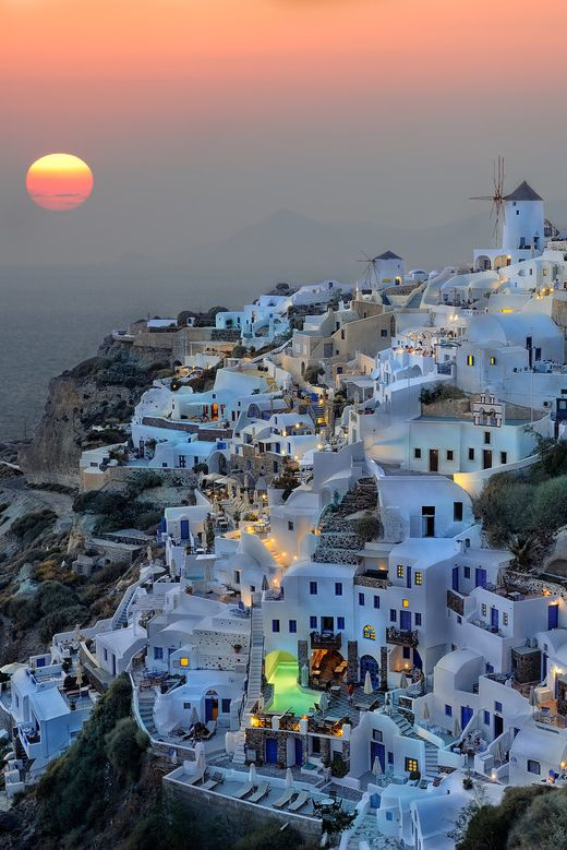 Santorini, Greece. sunset by Roman Rodionov