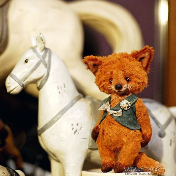 fox pup teddy ooak stuff art toy http://natalytoolsbears.blogspot.ru/