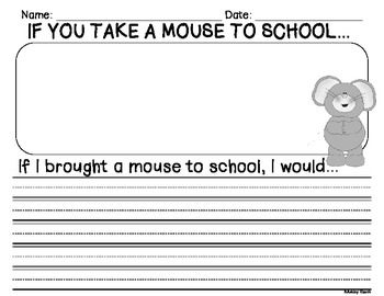 Worksheet If You Take A Mouse To School Worksheets 1000 images about if you take a mouse to school on pinterest whole group sequencing activity writing prompt start the