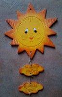 Keramické sluníčko s mráčky