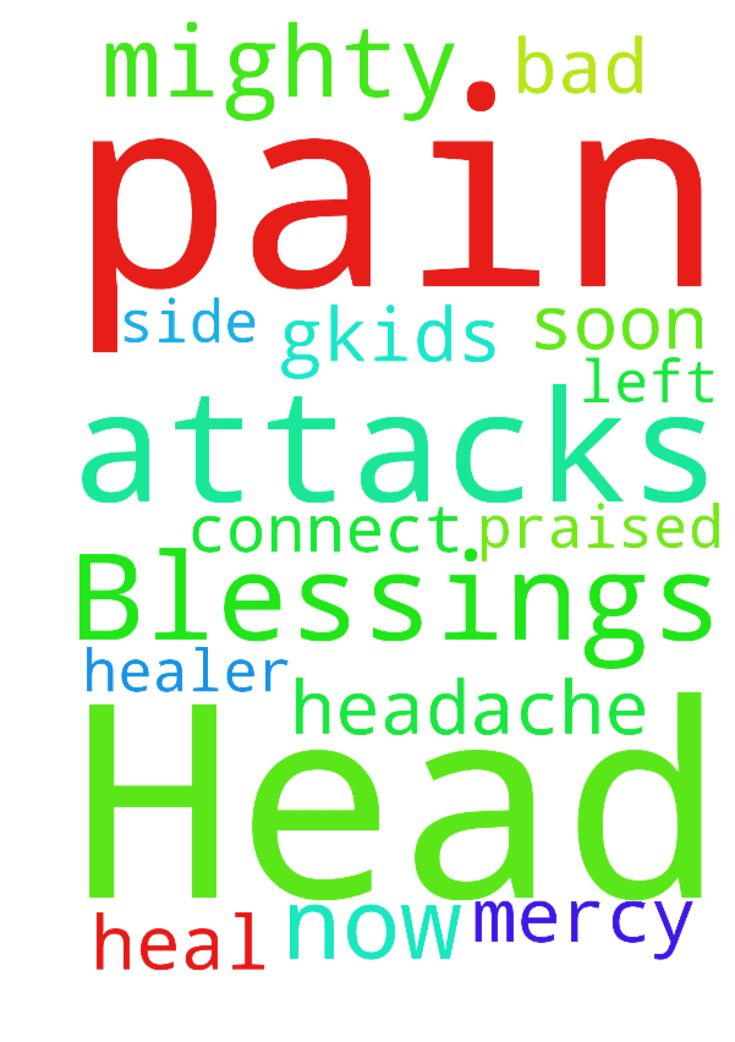 Having Head Pain attacks now. Mighty Blessings to You - Having Head Pain attacks now. Mighty Blessings to You all who pray. Bad headache on left side God my Healer please heal me and have me connect soon gkids. My Lord mercy, You are Praised  Posted at: https://prayerrequest.com/t/JSM #pray #prayer #request #prayerrequest