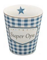 krasilnikoff happy mug superopa karo blau