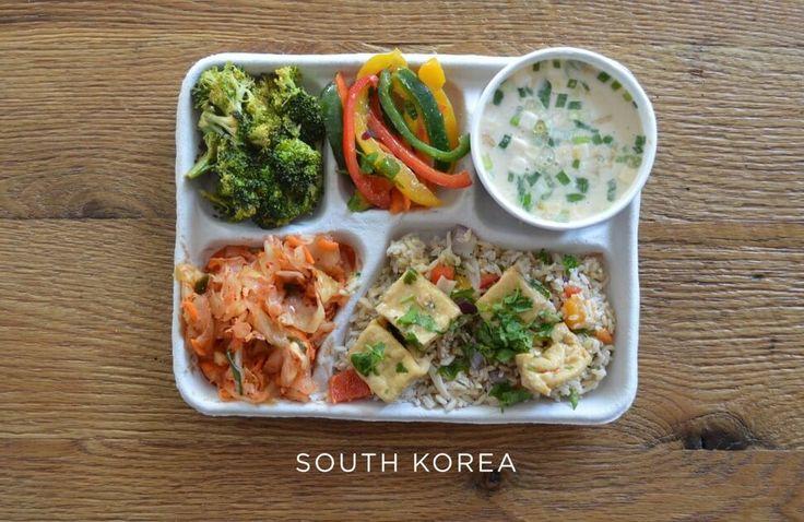Posiłki w stołówkach szkolnych w różnych krajach świata
