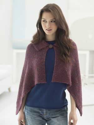 Image of Loom Knit Collared Wrap
