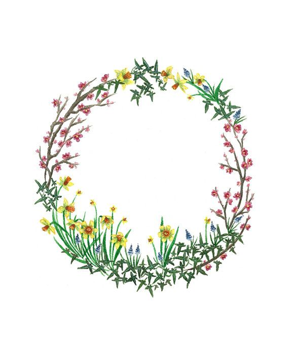 Mary Lennox Wreath Print by maggierutherford on Etsy