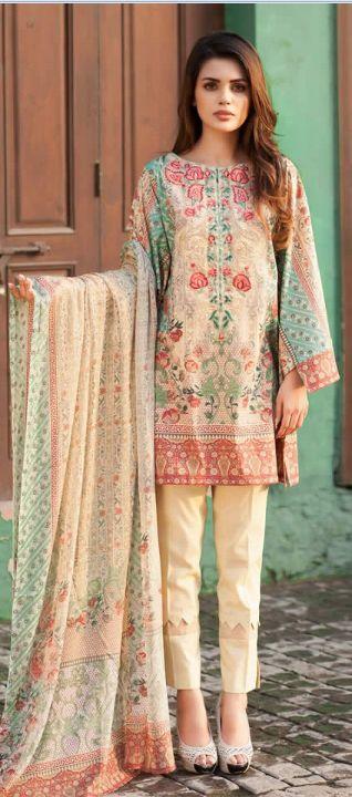 Mausummery Latest Fall Winter Cambric Collection 2016 #designerdresses #dresses #MidSummerDresses