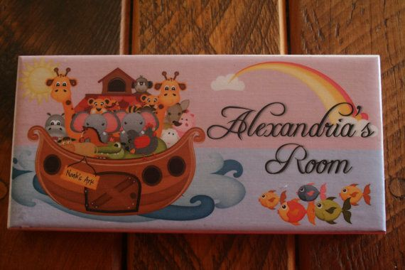 Would prefer it has just name without the 'room'. Something in yellows and purples would be good if going girly (like owls) or more gender neutral (like Noah's ark). Is the Noah's ark one too babyish?