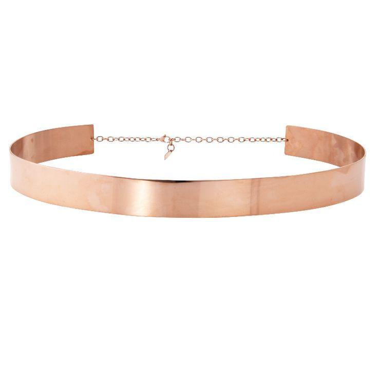 Rose gold metal belt