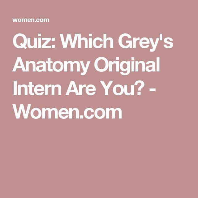 Quiz: Which Grey's Anatomy Original Intern Are You?   See ...